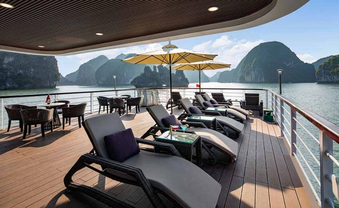 Jade Sails Halong sundeck