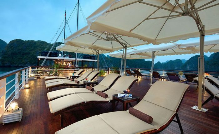 orchid cruise halong bay sundeck