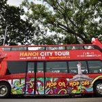 double decker bus city tour hanoi