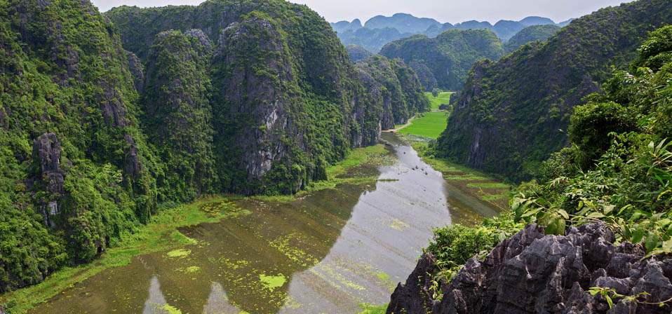 Tam Coc bird view from Hang Mua