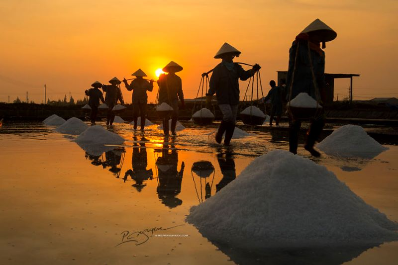 photo tour hon khoi salt fields